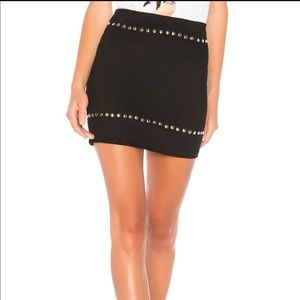 By The Way Black Studded Mini Skirt